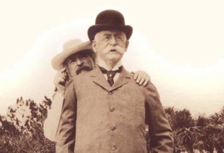 Марк Твен с Генри Роджерсом