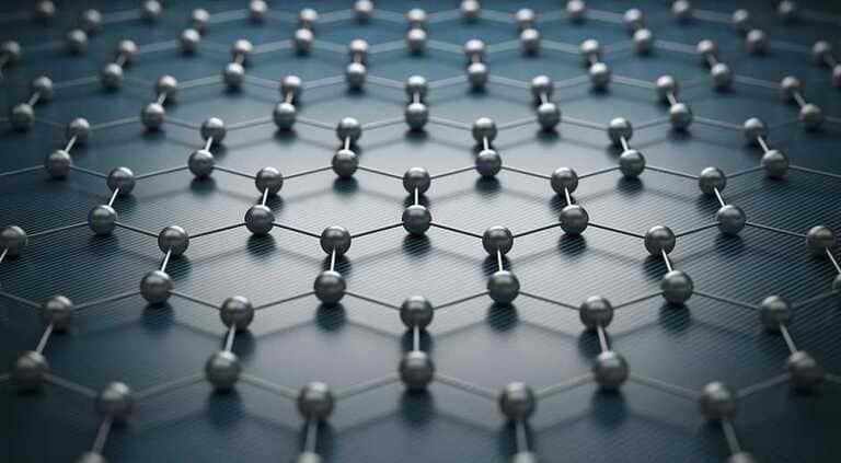 Молекулярная сетка графена.