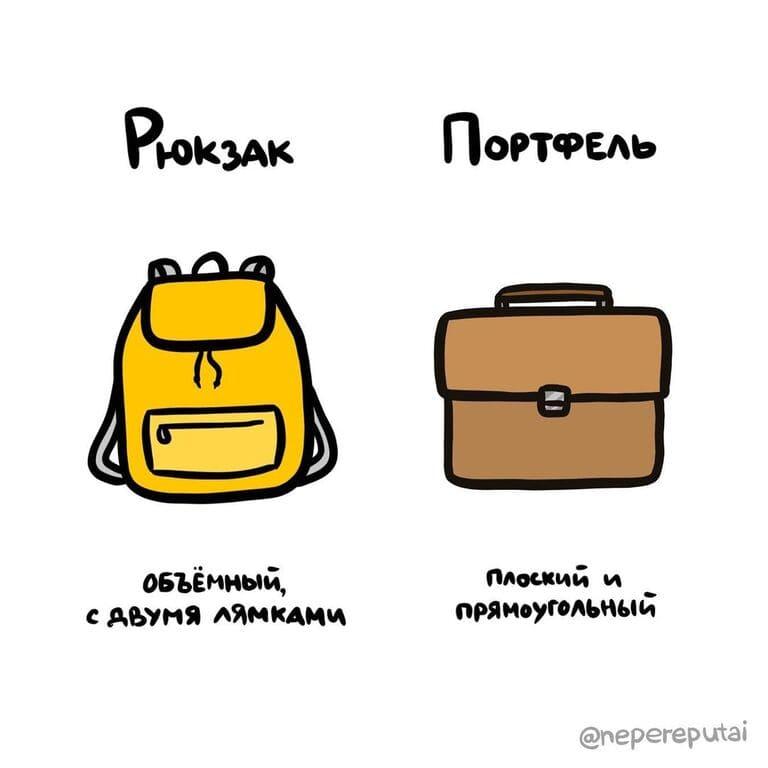 14. Рюкзак и портфель — не одно и то же?