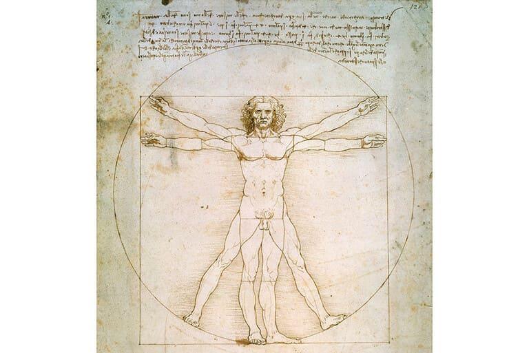 Витрувианского человека Леонардо да Винчи