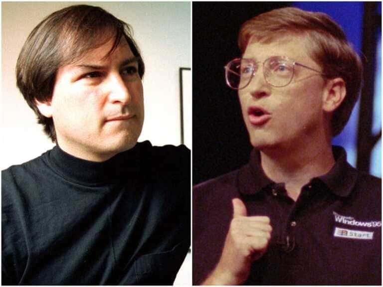 напряжение между Джобсом и Биллом Гейтсом