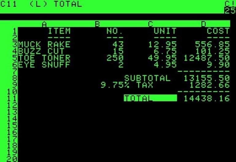 приложение VisiCalc