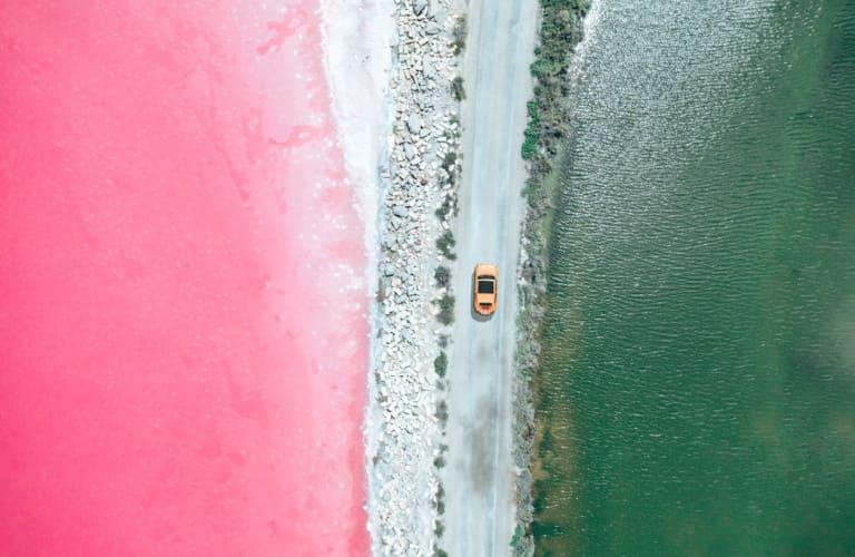 Изысканный цвет розовых пляжей, созданный бактериями