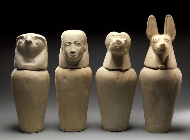 Канопы из гробницы Аафенмута. Около 712–664 годов до нашей эры