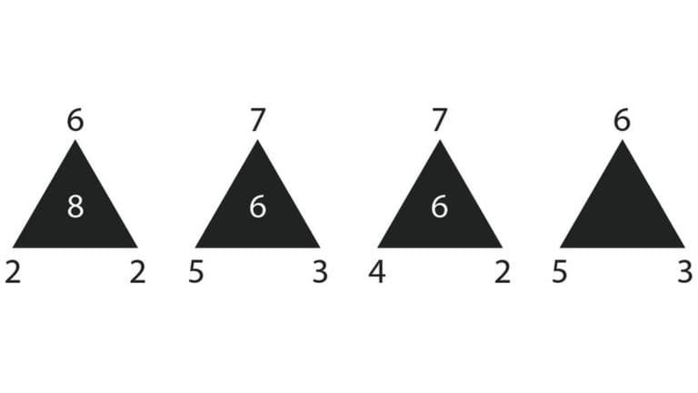 Логическая головоломка - Пустой треугольник