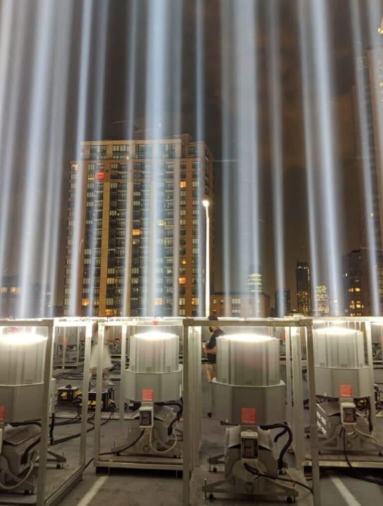 Освещение мемориала 9 11