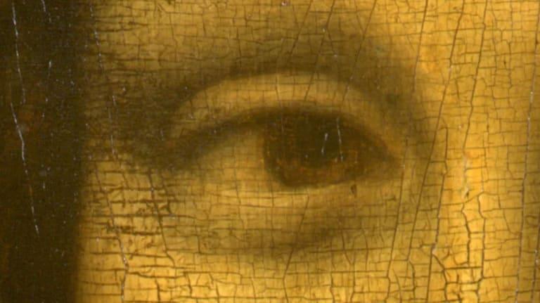 Правый глаз «Мона Лиза»