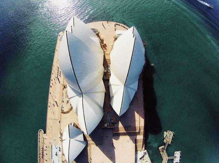 Сиднейский оперный театр сверху