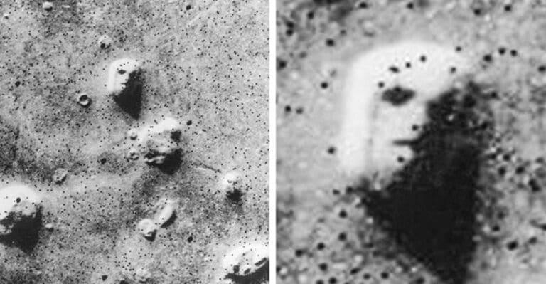 Снимок «лица» на Марсе