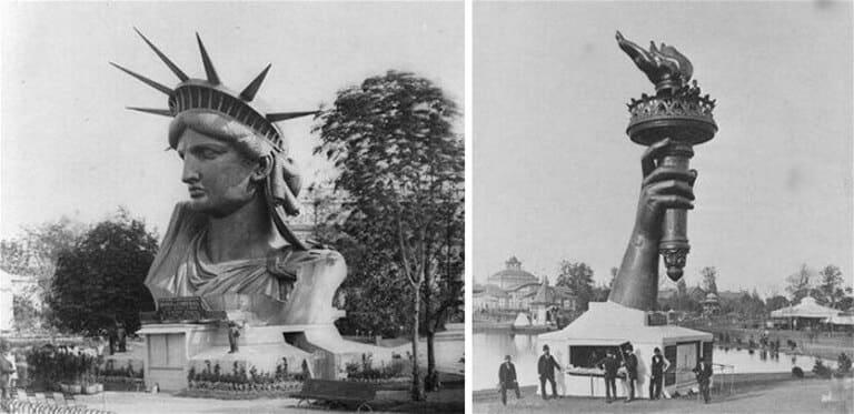 Статуя Свободы на Парижской всемирной выставке
