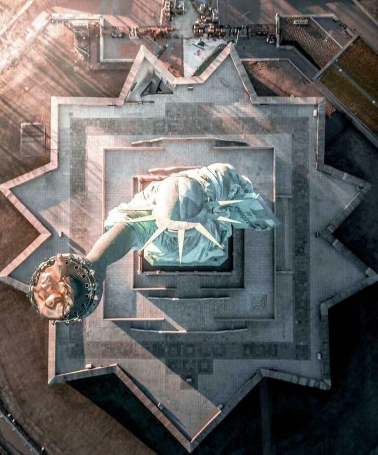 Статуя Свободы (вид сверху)