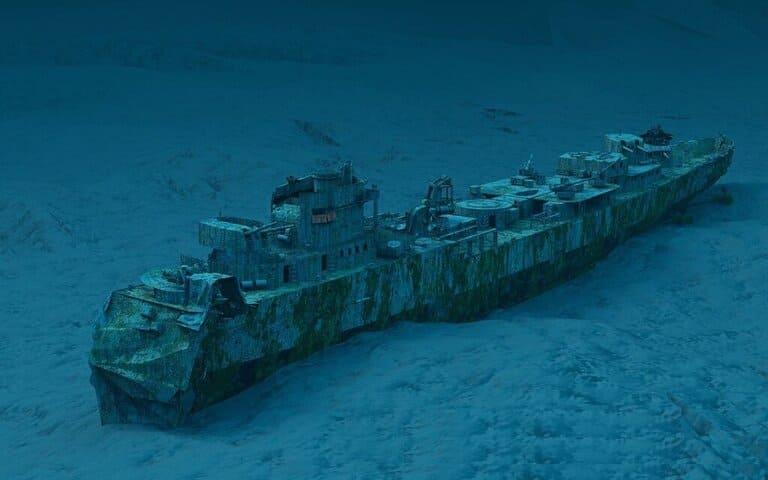 В океане три миллиона затонувших кораблей