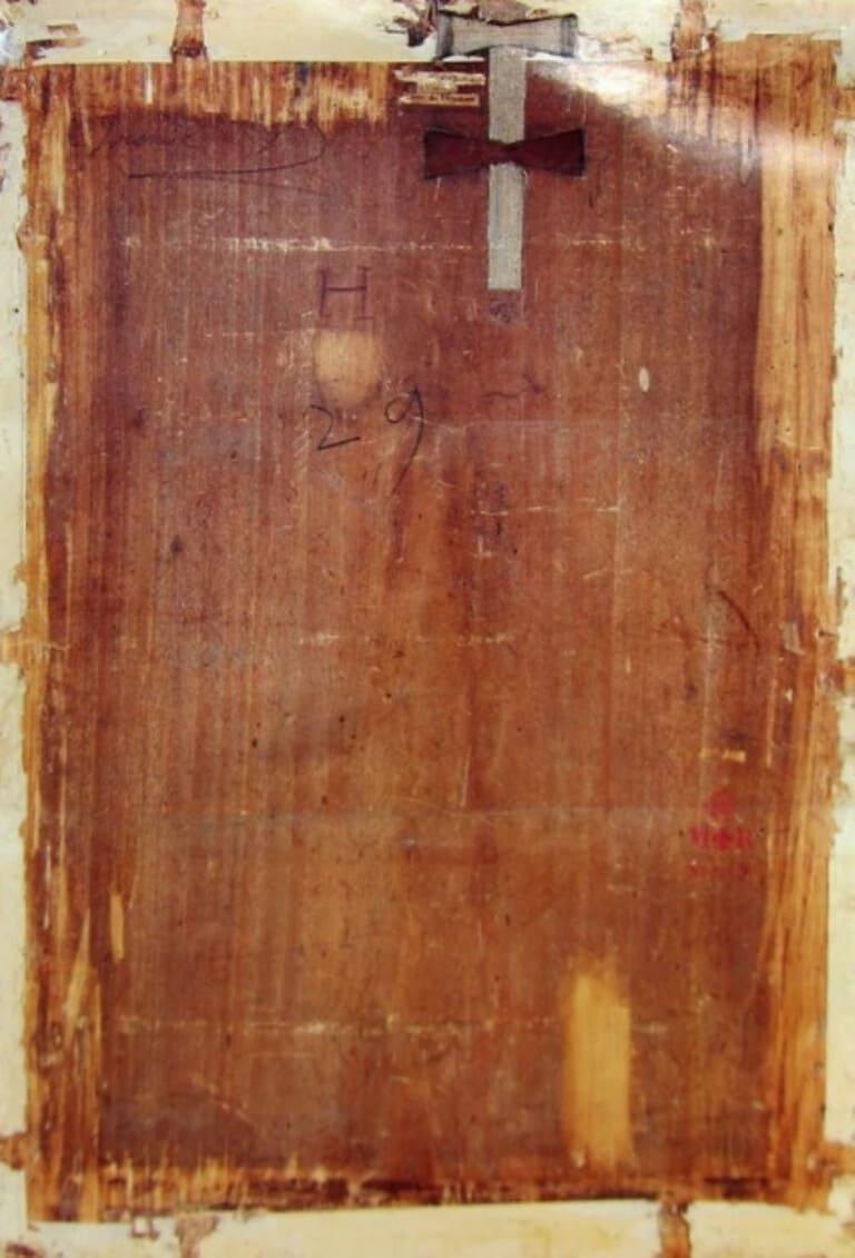 Задняя сторона картины Мона Лиза