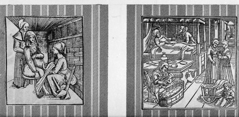 акушеркой в 17 веке