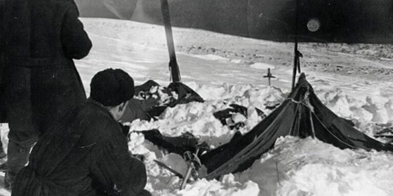 Брошенная палатка группы Дятлова
