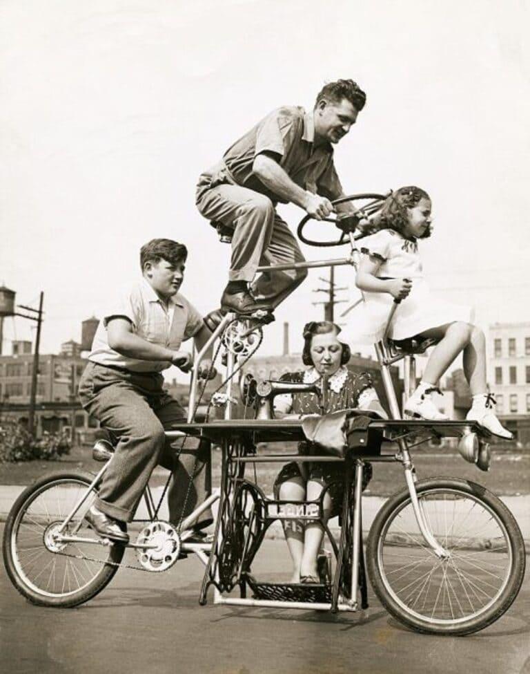 велосипед со встроенной швейной машиной