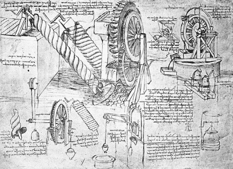Лист рукописи Леонардо