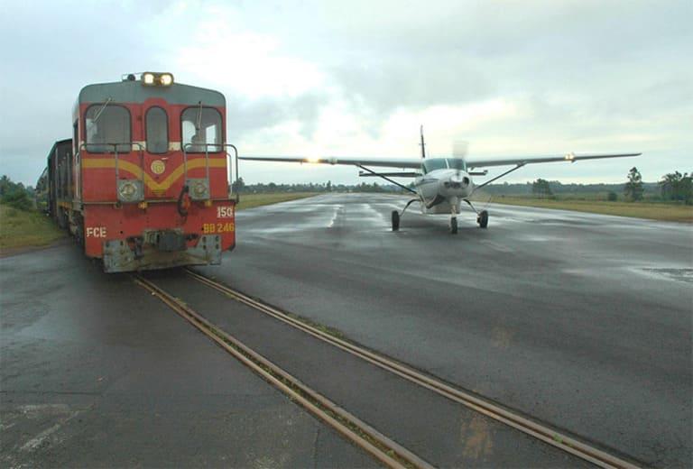 В аэропорту Гисборн есть железнодорожные пути